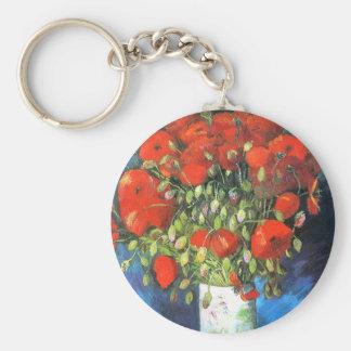 Poppies, Van Gogh Keychain