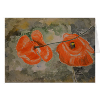 Poppies Watercolor Note Card