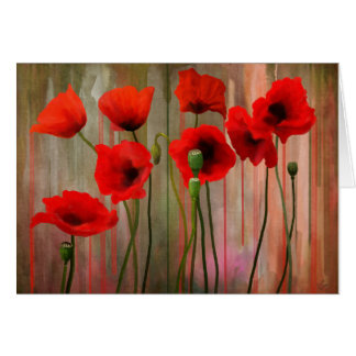 Poppies Watercolor painting Card