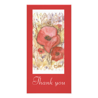POPPIES -WATERCOLOUR, Thank you card