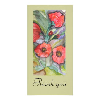 POPPIES -WATERCOLOUR, Thank you card Photo Cards