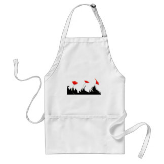 Poppies waves adult apron