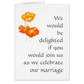 Poppies Wedding Invitation. Card