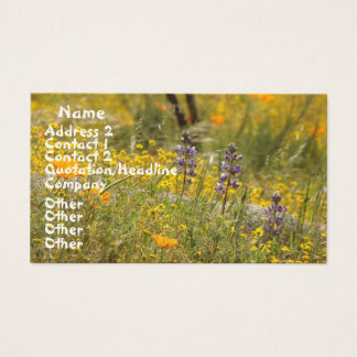 Poppies Wildflowers Business Card