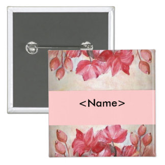 poppies Your name pin