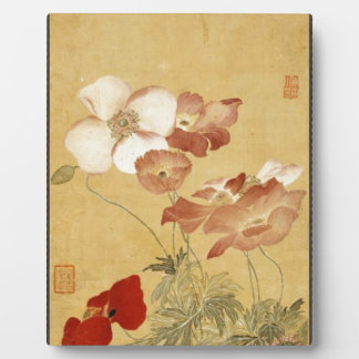 Poppies -  Yun Shouping (恽寿平) Plaque