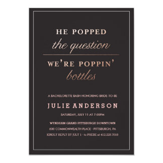 POPPIN' BOTTLES // BACHELORETTE PARTY invitation