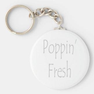 Poppin' Fresh Basic Round Button Keychain