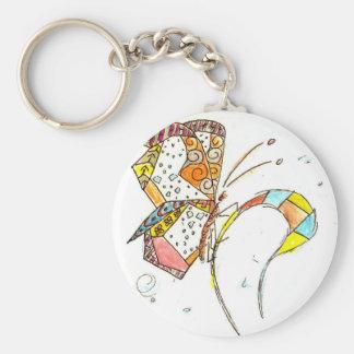 Poppin' Key Ring Basic Round Button Keychain