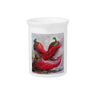 Poppin' PEPPERS Drink Pitcher