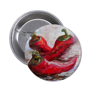 Poppin' PEPPERS Pinback Button