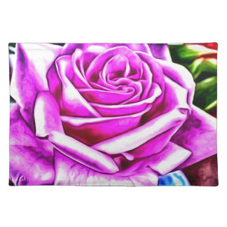 ©Poppin Purple Rose Cloth Placemat