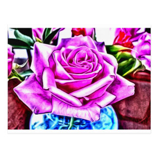 ©Poppin Purple Rose Postcard