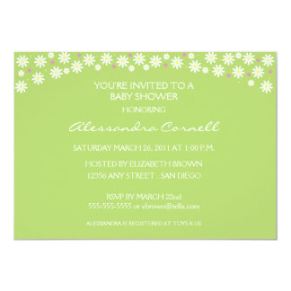 Poppin' Up Daisies Baby Shower Invitation
