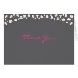 Poppin' Up Daisies Thank You Note Card