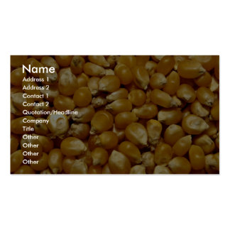 Popping corn business card
