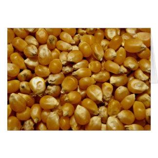 Popping corn card