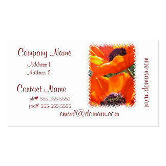 Popping Poppies Business Cards