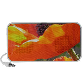 Popping Poppies Portable Speakers