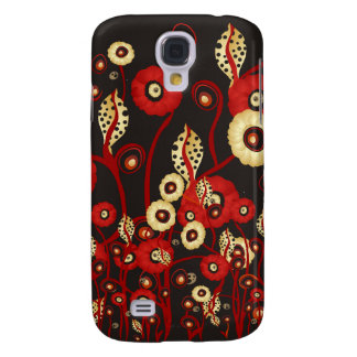 POPPING POPPIES SAMSUNG GALAXY S4 COVER