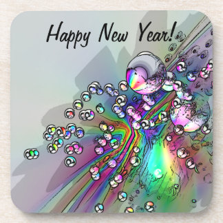 Popping the Cork - New Year Bubbles Drink Coaster