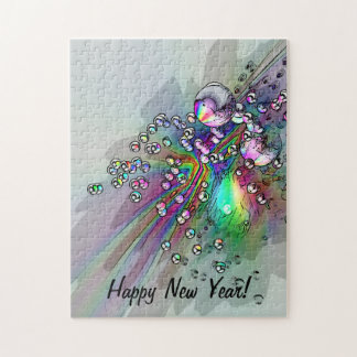 Popping the Cork - New Year Bubbles Jigsaw Puzzle