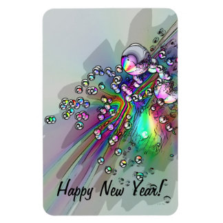 Popping the Cork - New Year Bubbles Magnet