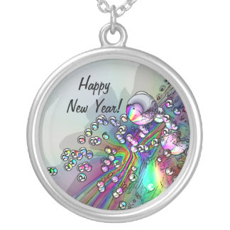 Popping the Cork - New Year Bubbles Necklace