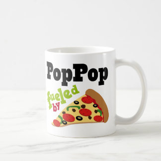 Poppop (Funny) Pizza Classic White Coffee Mug