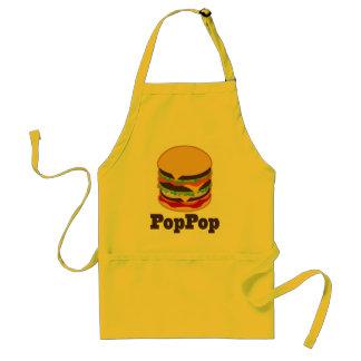 PopPop Grandpa Burger BBQ Grilling Gift Adult Apron