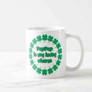 PopPop is My Lucky Charm Coffee Mugs