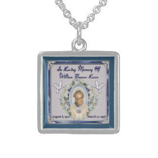 PopPop Lease Memorial Sterling Silver Necklace