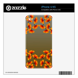 poppy4 pattern decals for the iPhone 4S