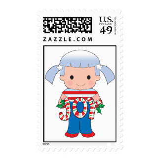 Poppy American Christmas Postage Stamp