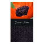 Poppy and Dark Damask Business Card