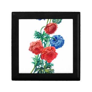 Poppy Anemones Drawn from Nature Keepsake Box