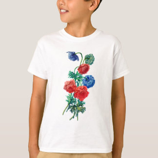 Poppy Anemones Drawn from Nature T-Shirt