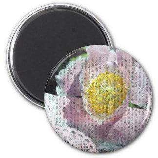 Poppy Art 4 2 Inch Round Magnet