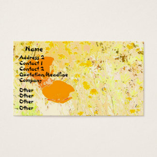 Poppy Art Business Card
