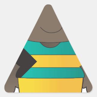 Poppy Bahamas Boy Triangle Sticker