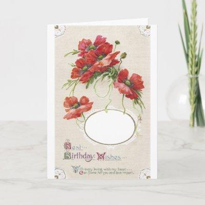 Poppy Birthday Card Frame from Zazzle.com