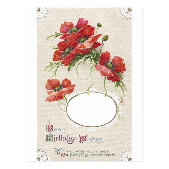 Poppy Birthday Card Frame