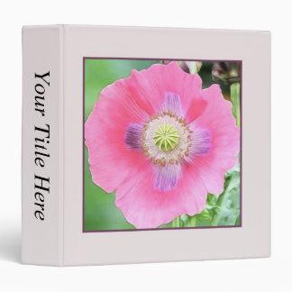 Poppy Bloom - Papaver Somniferum 3 Ring Binder