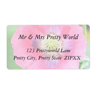 Poppy Bloom - Papaver Somniferum Label