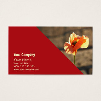 Poppy blooming business card