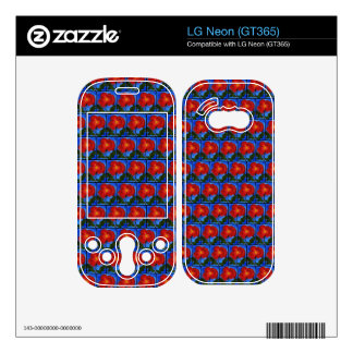 Poppy Blue and Red Floral Pattern Decals For The LG Neon