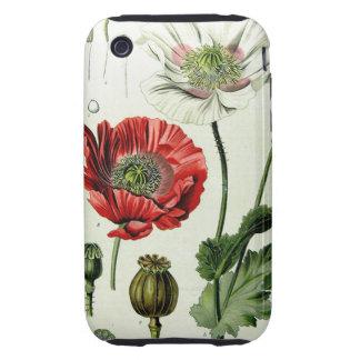 Poppy Botanical Illustration iPhone Case 1 iPhone 3 Tough Case