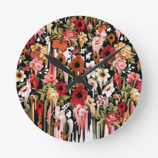 Poppy Breeze Round Clock