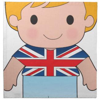 Poppy British Boy Printed Napkin
