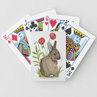 'Poppy Bunny' Bicycle Playing Cards